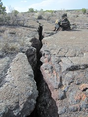 cracks and cairns (leff) Tags: newmexico rock nm volcanic cairn elmalpais volcanicrock