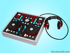 DJ Mixer (bruceywan) Tags: party rock dj lego mixer beat headphones deejay photostream moc ib3 ironbuilder brucelowellcom ibbl3