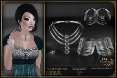 DANIELLE Taj Jewelry Set Old Silver And Black Diamond (Dani Plassitz) Tags: fashion modern silver gold necklace gothic ring diamond casual earrings filaments bangles elegance shininess jewelryset stylesbydanielle