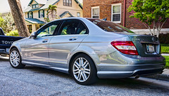 Mercedes C300 HDR (hz536n/George Thomas) Tags: silver mercedes spring may mercedesbenz kansas canon5d wichita palladium hdr smrgsbord photomatix c300 ef1740mmf4lusm 2013 cs5
