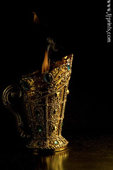Censer IV (TJ.Photography) Tags: lamp metal handle fire gold golden shiny glow perfume shine treasure stones metallic smoking flame burn ornament smell oriental orient smoker burner artifact aromatic item incense luster jewel odor artefact aroma engrave smelling censer cense burningsmoke