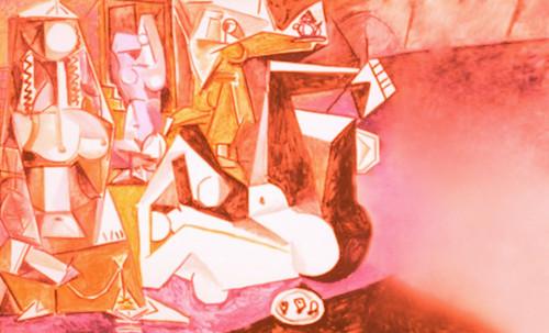 """Odaliscas (Mujeres de Argel) yuxtaposición y deconstrucción de Pablo Picasso (1955), síntesis de Roy Lichtenstein (1963). • <a style=""""font-size:0.8em;"""" href=""""http://www.flickr.com/photos/30735181@N00/8748000886/"""" target=""""_blank"""">View on Flickr</a>"""