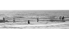 Beach fun (Harm Weitering) Tags: sunset sea beach strand fun zonsondergang lol zee texel