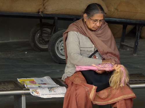 Woman with Doll, Chandigarh Station