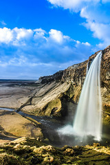 beautiful waterfall in iceland (Nikon-ier) Tags: ice canon landscape island is waterfall iceland wasserfall can backpacking 60 60d 1585mm