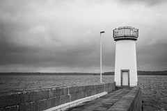Camaret Sur Mer (JulienTocanier) Tags: ocean sea bw mer lighthouse france port blackwhite nikon bretagne nb phare quai noirblanc digue camaret crozon finistere camaretsurmer d700 julient