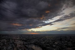 Sky on fire (davidkhardman) Tags: sunset urban london clouds landscape cityscape shard tonemapped canonef24105mmf4lis