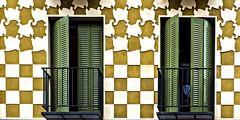 Living inside Escher (Maerten Prins) Tags: madrid windows wall spain pattern tiles balconies escher spanje