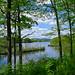 Looking north on the Hudson towards Glens Falls. Photo: R.G. Hoag, Glens Falls, NY