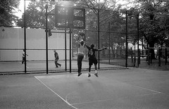 SUMMER SPORTS BEDSTUY (stephen nessen) Tags: park blackandwhite queens rockaway contaxg2