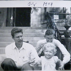 Chicago, 1949 (yooperann) Tags: old white chicago man black photo kodak father pipe daughter hilton front earl raymond stoop chicagoist