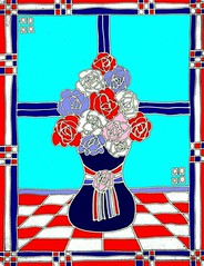 Liberty Roses (traqair57) Tags: roses liberty patriotic artnouveau patriot redwhiteandblue mackintosh