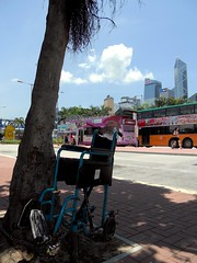 Handicap Parking (Mark Obusan) Tags: life hk bus bike mystery space wheelchair central terminal chain hong kong handicap mysteries