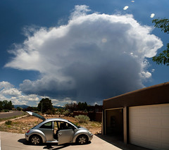 BeetleStorm (feverblue) Tags: cloud storm newmexico santafe composite ominous beetle thunderstorm newbeetle
