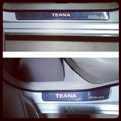 #LED #scuffplate #nissan #teana #สคัพเพลท มีไฟ #นิสสัน #เทียน่า #arkira_auto #accessory #automobile #car #chrome #คิ้วบันไดสแตนเลส #ชายบันได #ของแต่งรถ #แต่งรถ #ประดับยนต์ #กันรอย #racing #wholesale #retail #contact #สนใจติดต่อ  #0854146459 #0880083309