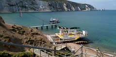 The steps and chair lift at Alum Bay (BOB@ wootton) Tags: bay lift steps isleofwight needles isle wight iow alum
