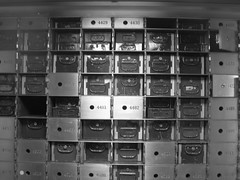 056 (bwiggins55) Tags: white black bank vault safe woolworthbuilding safedepositbox