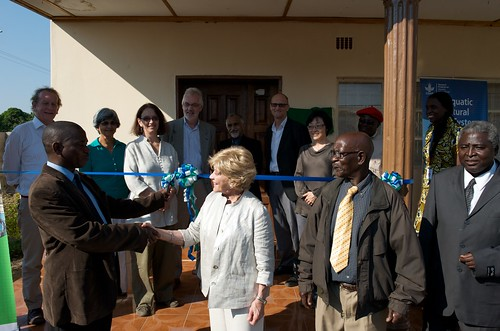 Opening the Aquatic Agricultural Systems (AAS) office in Mongu, Zambia. Photo by Patrick Dugan, 2012.
