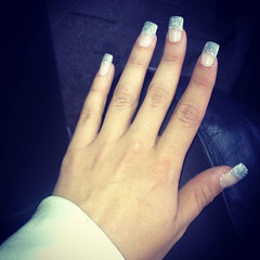 The nails (Sarrra ) Tags: girl silver hand nails stard