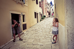 Shoot me (Channed) Tags: street girl pose town vakantie photo shoot photographer village vincent posing croatia valle gemma zomer bale dorp istria straat istri zomervakantie dorpje kroati chantalnederstigt