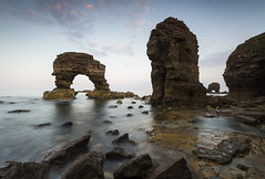 ARCHES AND THINGS (Steve Boote..) Tags: longexposure sunset sea seascape coast dusk arches stack northumbria northsea coastline manfrotto whitburn tyneandwear southtyneside northeastengland sigma1020 nd4 leefilters ndgrads canoneos7d koodfilters 09s steveboote