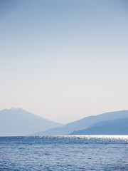 Skiathos Blue (Cjlws) Tags: travel blue sea mountains landscape island greek haze nikon monotone hills greece northern skiathos sporades p7700 cjlws