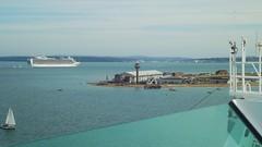Crown Princess turning the corner at Southampton Harbour (tedesco57) Tags: cruise princess harbour crown southampton ventura liner