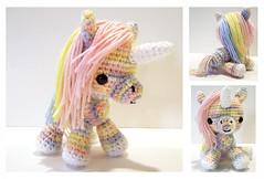 Pastel Rainbow Unicorn (Syppah) Tags: cute animal toy stuffed handmade crochet craft plush yarn kawaii plushie etsy amigurumi syppah