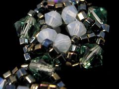 Beautiful beadwoven bracelet (macro) (SeaMowse) Tags: abstract macro beautiful closeup raw handmade jewelry bracelet z swarovski easyshare swarovskicrystal delica rightangleweave artscrafts seedbeads handmadejewelry beadweaving beadwoven littlebigshot pixelmator kodakeasysharec182