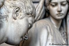 Sculpture (Alessandro Saettone) Tags: italy cemetery italia monumento liguria genoa genova statua monumental scultura staglieno