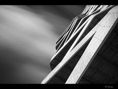 black and white waves in the sky I (Just me, Aline) Tags: longexposure blackandwhite bw holland netherlands architecture nederland le architectuur d800 hatert langesluitertijd abigfave leefilters 9nd bigstopper blackandwhitefineartlongexposure hartvanhatert