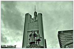 Gutenberg (Nihil Baxter007) Tags: building tower fountain statue skyscraper 1 office realestate place frankfurt platz brunnen von bank db schmidt deutschebank airlines der financ