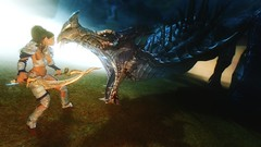 Frosty encounters ... (tend2it) Tags: game texture monster pc screenshot dragon xbox gloria v pack rpg immersive elder creatures mods enb dlc scrolls ps3 secv skyrim sweetfx tesv