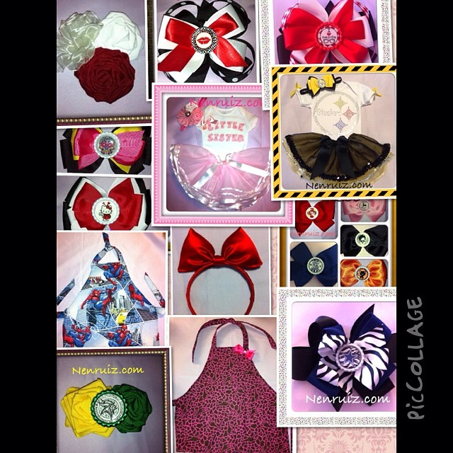 Small Business Saturday visit our website for unique Tutus, Bows & Aprons. Email us for custom orders. #bows #applique #tutu #littlesister #pink #tulle #custom #boutique #nfl #yellow #black #custom #Steelers #Pittsburgh #bow #handmade #buyhandmade #haircl