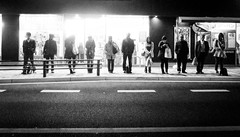 eleven (jam343) Tags: people bw monochrome japan night kyoto busstop 京都 gr uji 宇治 grd gr3 六地蔵 rokujizo grd3