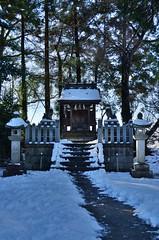 /A small shrine (koludabone49) Tags: winter sky snow japan nikon shrine  shinto     hdr