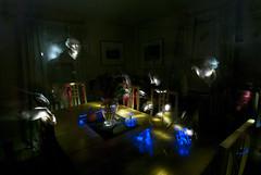 DC3256  DSC_9255D80  Table w/ Blue Light  © 2014 Paul Light (Paul Light) Tags: selfportrait table vase bluelight nightinterior