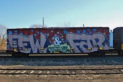 Few & Far (NJphotograffer) Tags: new railroad art car train graffiti big box nj rail whole few jersey graff far freight eec trackside wholecar