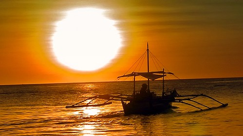 Sunset, White Beach, Boracay, Philippines