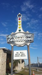 Automotive Engineering (roadsidequest) Tags: sign neon engineering automotive fl clearwater us19
