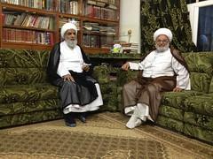 Sheikh with Ayatollah Sheikh Ahmad al-Bahadli