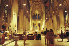 St. Patrick's Cathedral, NY (Dr. Harout) Tags: nyc usa ny newyork church catholic cathedral manhattan faith religion christian fuji200 nikonf3hp 2828aisnikkor