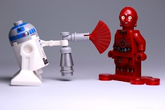 """ WELL IT'S OBVIOUSLY NOT GOLD..."" (Legoagogo) Tags: star lego r2d2 wars c3po chichester moc tc3 legoagogo"