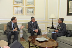 Visita da Embaixadora da África do Sul na Sede Nacional