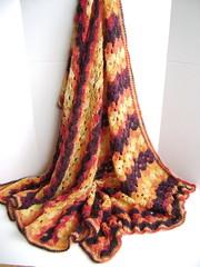 Bonfire Wedding Blanket (Creative Designs by Sheila) Tags: baby pattern lace crochet bonfire blanket easy patons