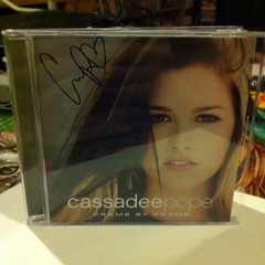 Keep forgetting to post this photo of my signed Cassadee Pope CD. (TheSamuelYears) Tags: music square cd squareformat signed framebyframe cassadeepope iphoneography instagramapp uploaded:by=instagram