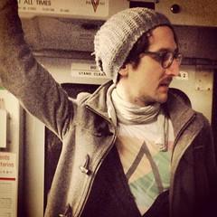 Meanwhile, On Muni (davitydave) Tags: sanfrancisco bus train subway square publictransportation muni squareformat commute commuter rider earlybird trainstalking iphoneography instagramapp uploaded:by=instagram foursquare:venue=4c925da42626a1cda10d3a6b