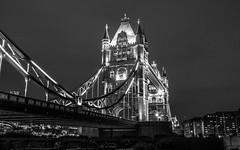 Tower Bridge (Vale_Ntina2183) Tags: street city bridge blackandwhite london architecture night towerbridge buildings nikon