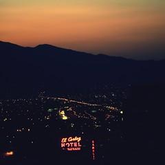 It Ain't True That The Sun Don't Rise in Vegas (Thomas Hawk) Tags: vegas usa hotel neon unitedstates lasvegas nevada unitedstatesofamerica surise clarkcounty fav10 elcortezhotel