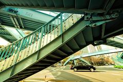 #1 (marumeganechan) Tags: car japan footbridge